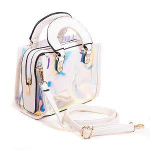 Bolsa Paul Ryan Neon Branca e translúcido colorido