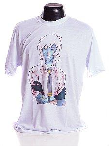 Camiseta branca Bad Rose Personagem Autoral Nanami Nem - ZENO