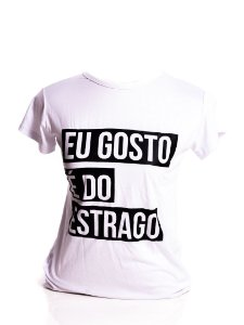 T-Shirt Femme Adulta Bad Rose branca com estampa preta