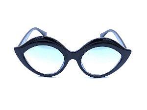 Óculos de Sol Bad Rose Preto com Lente Degradê Azul - YD1769C4