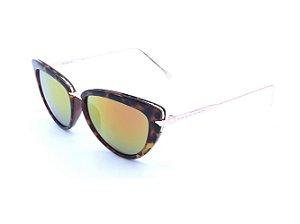 Óculos solar Prorider em Animal Print com Dourado e Lente Espelhada Colors