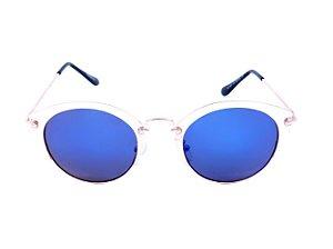 Óculos Solar Prorider Dourado com Lente Espelhada Azul - H01491C2