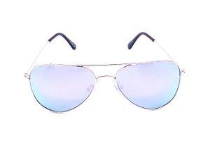 Óculos de Sol Prorider Aviador Dourado com Lente Espelhada Colors - KOLANTA