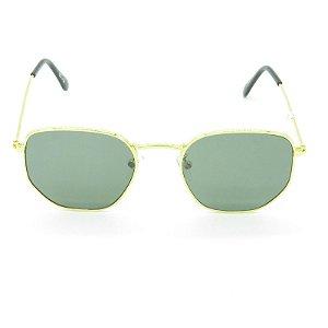 Óculos Solar Prorider Dourado Poligonal - 17-3