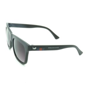 Óculos Preto Fosco com Detalhes em Vermelho e Azul - 20601