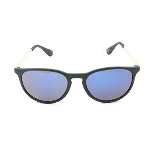 Óculos Solar Prorider Preto Fosco e Dourado com Lente Espelhada Azul - 25236