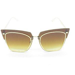 Óculos Solar Prorider Dourado com Lente Degrade Marrom - H01867C2