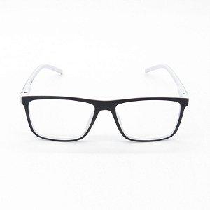 Óculos Receituário Prorider Preto e Branco Fosco - GP022-6