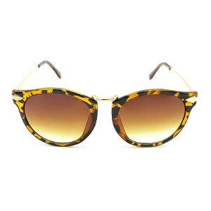 Óculos Solar Prorider Dourado com Animal Print - MARTON