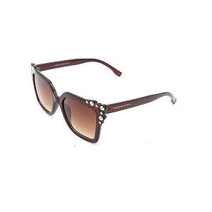 Óculos Solar Prorider Marrom com Detalhe Prata - FY8095C2