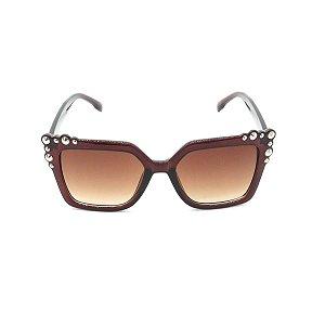 Óculos de Sol Prorider Marrom com Detalhe Prata - FY8095C2