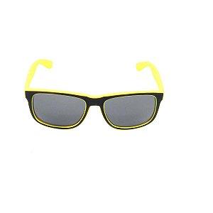 Óculos de Sol Prorider Preto e Amarelo Fosco com Lente Fumê - Z4165-8
