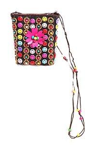 Bolsa Infantil Prorider Multicolorida com Bottons e Miçangas - BIL04