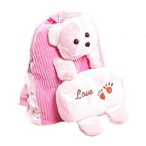Mochila Infantil Prorider Urso Rosa - BIL02