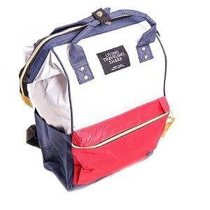 Mochila Prorider Azul, Branco e Vermelho - BAL01