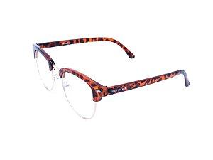 Óculos Receituário Polo Walker em Animal Print com Dourado - XM3016-1