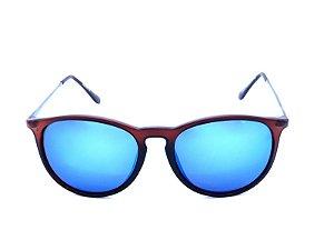 Óculos de Sol Prorider Marrom Fosco com Grafite e Lente Espelhada - YD1517C6