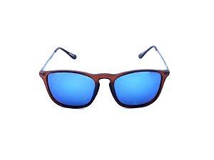Óculos Solar Prorider Marrom Fosco com Grafite e Lente Espelhada - YD15187C6