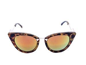 Óculos Solar Prorider Dourado em Animal Print  - YD1700C7