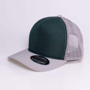 Boné Cinza com Verde escuro - BN0009