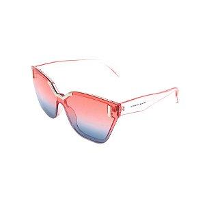 Óculos Solar Prorider Rosa Translúcido com Detalhes em Prata - CJH72044C4
