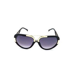 Óculos de Sol Prorider Preto Fosco e Dourado com Lente Degradê - 88-1002
