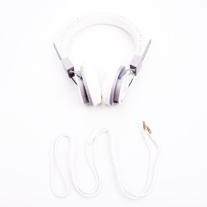 Headphone Prorider Acme Inc A-95 Couro Branco com Detalhe Cinzas - AI005