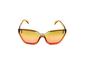 Óculos Solar Prorider Translúcido Marrom Alaranjado com Lente Degrade - CJH72044C3
