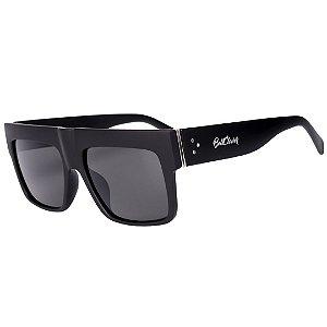Óculos de Sol Feminino BellClover Preto Fosco com Detalhe Prata