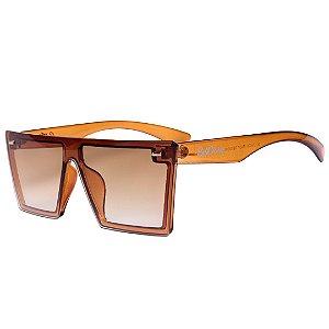 Óculos de Sol Feminino BellClover Marrom Claro Translúcido