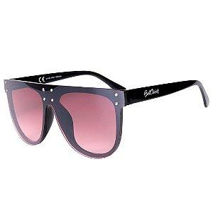 Óculos de Sol Feminino BellClover Preto com Lente Degrade Marrom