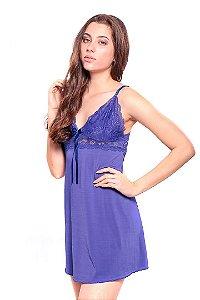 Camisola BellClover Azul com Renda Delicada