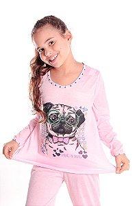 Pijama Conjunto Rosa Pug