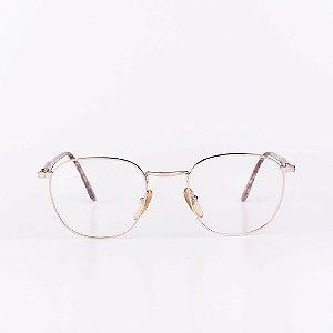 Óculos Receituário Robert La Roche Dourado com Mescla Marrom Translúcido - RROCR050