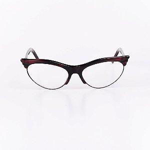 Óculos Receituário Robert La Roche Vinho Translúcido e Preto - RROCRCA113