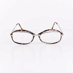 Óculos Receituário Robert La Roche Mescla Translúcido com Dourado - RROCRCA125