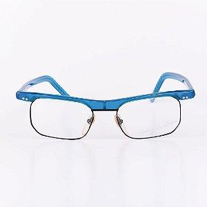 Óculos Receituário Robert La Roche Azul Translúcido com Preto Fosco - RROCRCA167