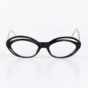 Óculos Receituário Robert La Roche Preto com Haste Translúcida - RROCRCA48