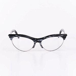 Óculos Receituário Robert La Roche Preto Rajado com Cinza Brilhante - RROCRLR262