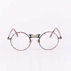 Óculos Receituário Robert La Roche FEMININO Dourado com Haste Mescla  - RROCRLR336