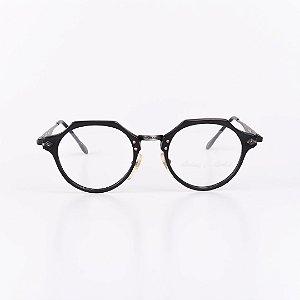 Óculos Receituário Robert La Roche Preto e Dourado Fosco- RROCRMOD189
