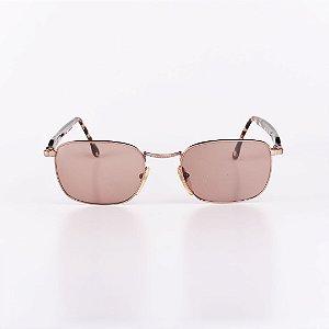 Óculos de Sol Feminino Robert La Roche Dourado com Haste Animal Print - RROCSA94