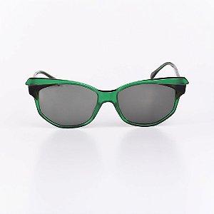 Óculos Solar Feminino Robert La Roche Verde Fosco com Marrom - RROCSCA104