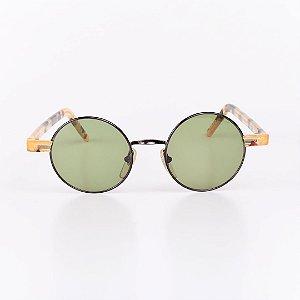 Óculos de Sol Robert La Roche Mescla Translúcida com Dourado e Preto - RROCSCA117