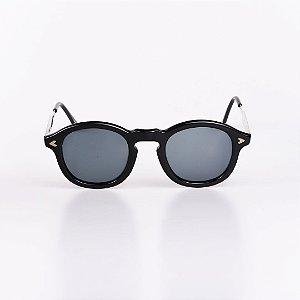Óculos de Sol Masculino Robert La Roche Preto com Haste Dourada - RROCSGHOST