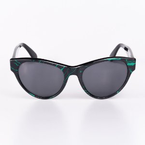 Óculos Solar Feminino Robert La Roche Rajado Preto e Verde - RROCSLR195