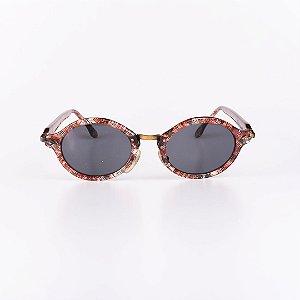Óculos de Sol Feminino Robert La Roche Listrado Colorido Translúcido - RROCSLR300