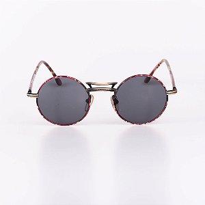Óculos Solar Feminino Robert LA Roche Mescla e Dourado com Lente Fumê- RROCSLR336