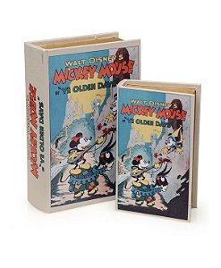 Caixa Livro Mickey Mouse 2 Peças - Disney  21x13x5cm
