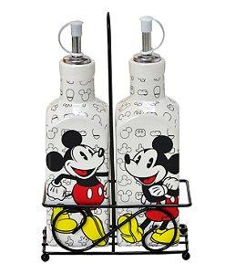 Galheteiro Mickey 3Pçs Preto - Disney